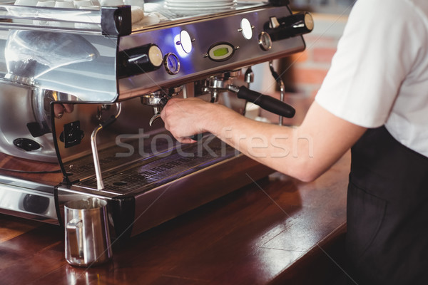 Barista preparing coffee machine Stock photo © wavebreak_media