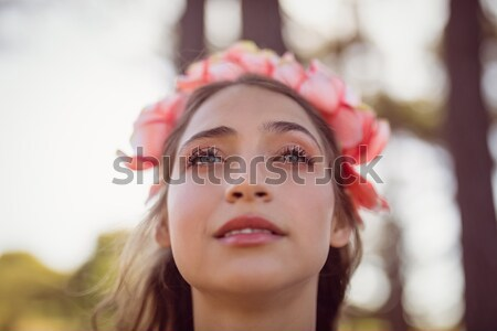 Stock photo: Beautiful woman looking away