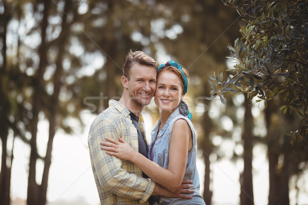 Glimlachend olijfboom boerderij portret Stockfoto © wavebreak_media