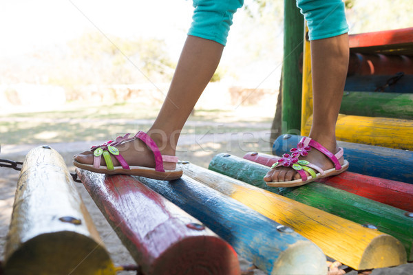 девушки ходьбе джунгли спортзал низкий Сток-фото © wavebreak_media