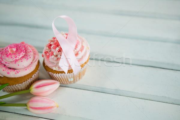 Foto stock: Ver · câncer · de · mama · consciência · rosa