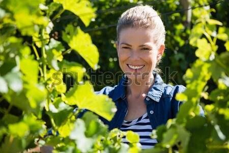 女性 携帯電話 畑 ビジネス 自然 ストックフォト © wavebreak_media