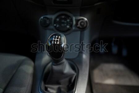 Araba dişli gösterge paneli seyahat siyah Stok fotoğraf © wavebreak_media