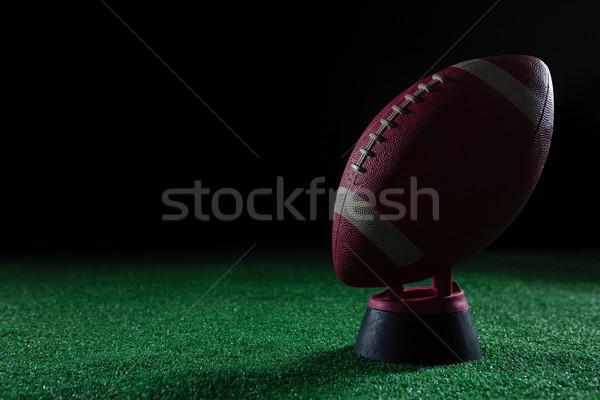 Közelkép amerikai futball áll mesterséges tőzeg Stock fotó © wavebreak_media