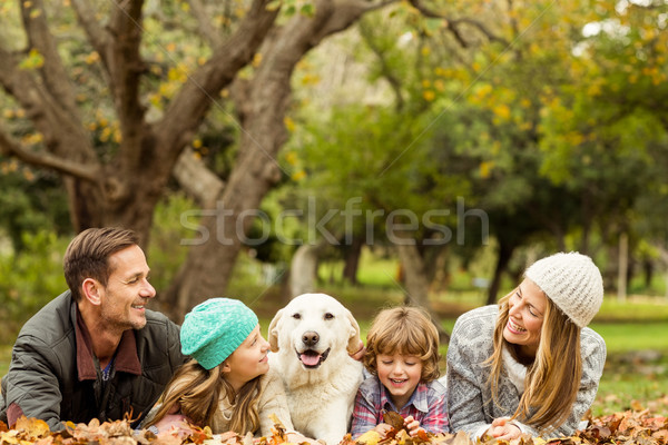 Young family with a dog Stock photo © wavebreak_media