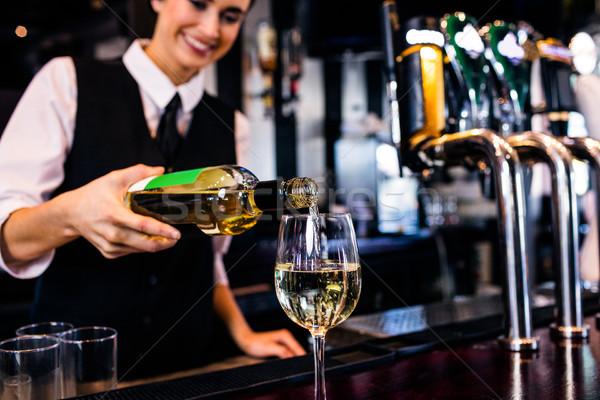 Vidro vinho negócio mulher Foto stock © wavebreak_media