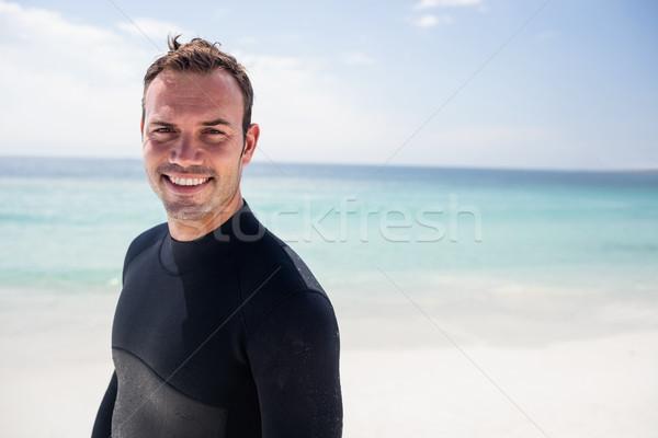 счастливым Surfer Постоянный пляж портрет Сток-фото © wavebreak_media