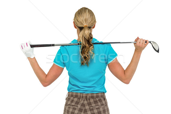 Rear view of golf player holding a golf club Stock photo © wavebreak_media