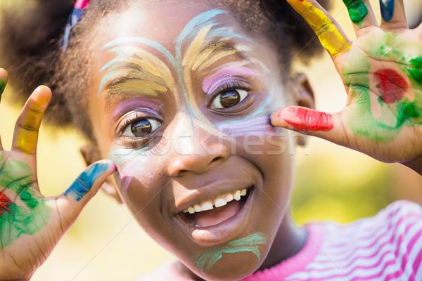 Portrait cute fille composent souriant Photo stock © wavebreak_media