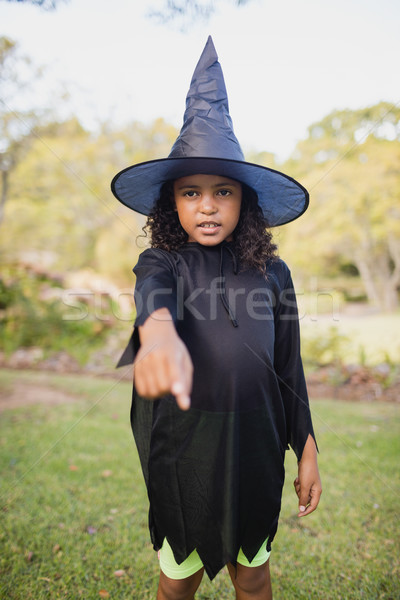 Sevimli kız cadı park kadın gökyüzü Stok fotoğraf © wavebreak_media