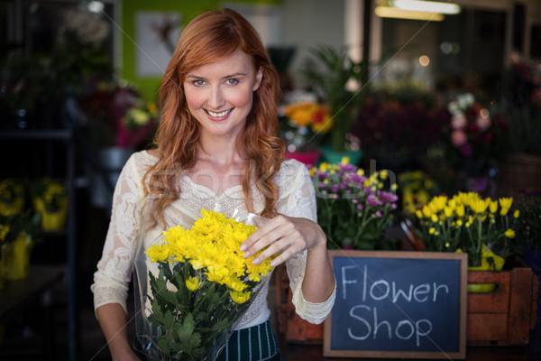 女性 花屋 花束 ショップ ビジネス ストックフォト © wavebreak_media