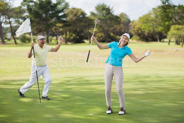 Сток-фото: гольфист · пару · успех · Постоянный · области