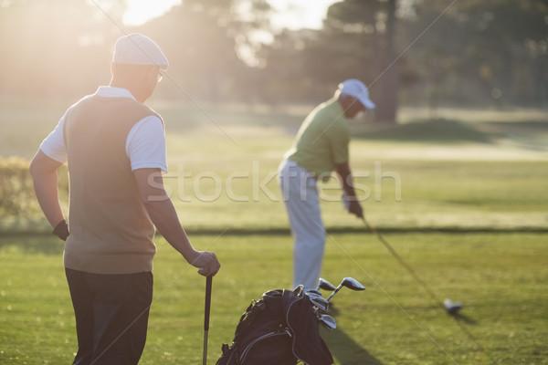 зрелый гольфист мужчин Постоянный области Сток-фото © wavebreak_media