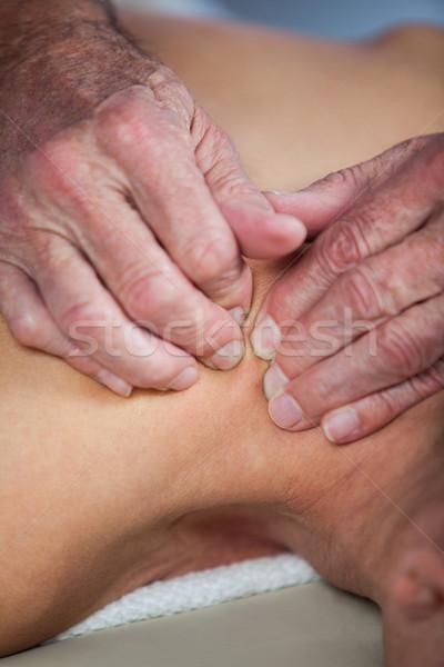 Mulher ombro massagem homem profissional doente Foto stock © wavebreak_media