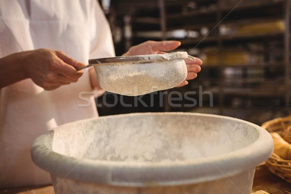 Női pék liszt pékség bolt nő Stock fotó © wavebreak_media