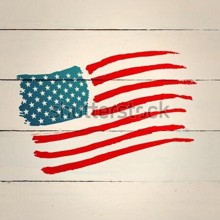 Usa National Flag Against Parchment Stock Photo C Wavebreak Media