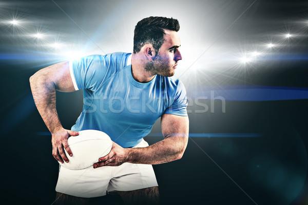 Afbeelding rugby speler bal Stockfoto © wavebreak_media