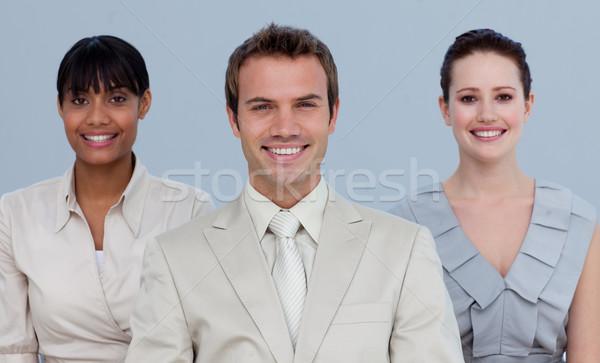 Több nemzetiségű üzleti csapat áll kamera üzlet férfi Stock fotó © wavebreak_media