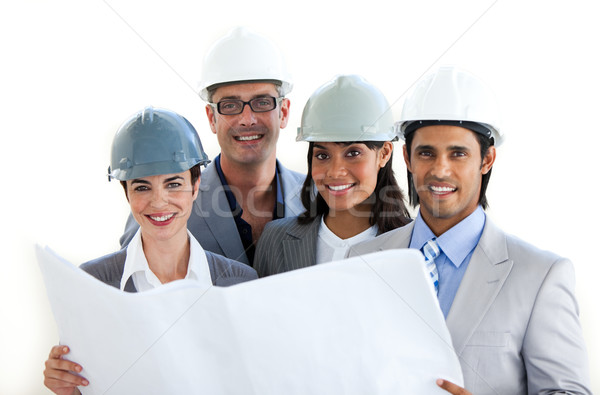 Grupo diversidade branco edifício urbano Foto stock © wavebreak_media