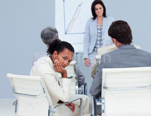 Nudzić etnicznych kobieta interesu konferencji koledzy spotkanie Zdjęcia stock © wavebreak_media