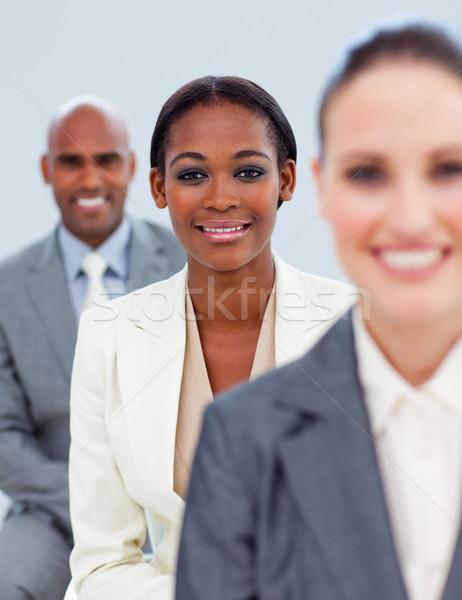 Közelkép kisebbségi menedzser csapat áll iroda Stock fotó © wavebreak_media