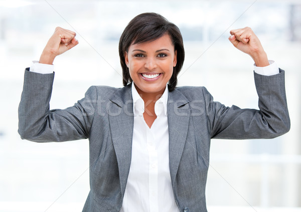 Fortunate businesswoman celebrating success Stock photo © wavebreak_media