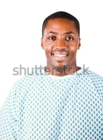 Patiënt ziekenhuis afrikaanse amerika gezondheid achtergrond Stockfoto © wavebreak_media
