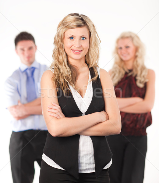 Female Business woman with arms Folded Stock photo © wavebreak_media