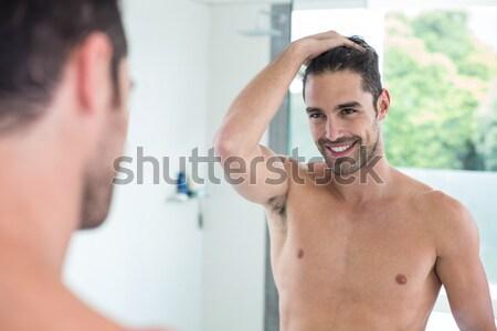 Sorridere medico maschio temperatura ospedale salute Foto d'archivio © wavebreak_media