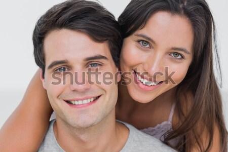 Stock fotó: Szerető · pár · megnyugtató · cég · otthon · szeretet