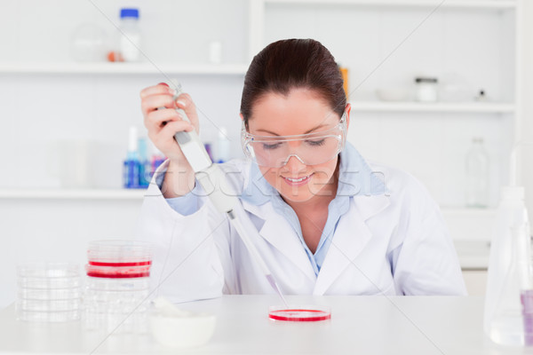 Cute scientist preparing a sample Stock photo © wavebreak_media