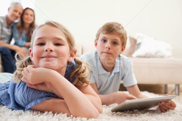 счастливым родителей гостиной любви Сток-фото © wavebreak_media