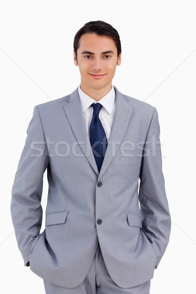 Portrait of a good-looking man against white background Stock photo © wavebreak_media