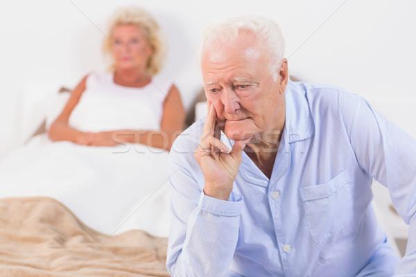 Discouraged old couple Stock photo © wavebreak_media