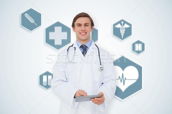 Görüntü genç doktor mavi Stok fotoğraf © wavebreak_media