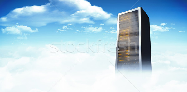 Stock photo: Composite image of server tower