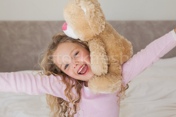 Jonge gelukkig meisje gevuld speelgoed portret Stockfoto © wavebreak_media