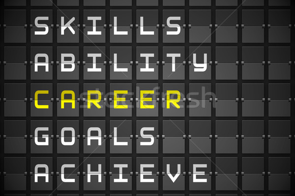 Career buzzwords on black mechanical board Stock photo © wavebreak_media