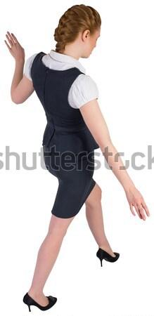 Zakenvrouw balancing handelen witte corporate vrouwelijke Stockfoto © wavebreak_media