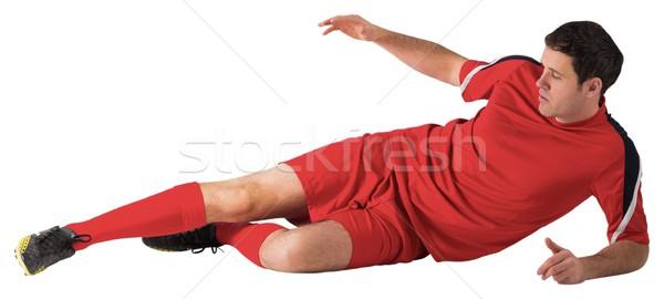 Futballista piros rúg fehér férfi futball Stock fotó © wavebreak_media