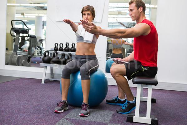 Client séance droite exercice balle Photo stock © wavebreak_media
