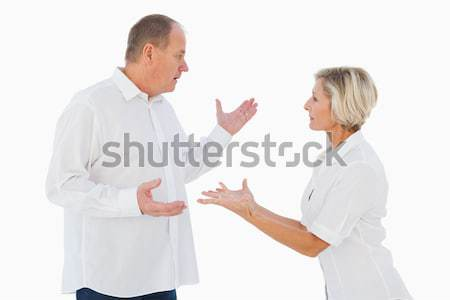 Angry older couple arguing with each other Stock photo © wavebreak_media