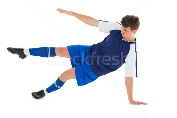 Foto stock: Azul · branco · esportes · futebol