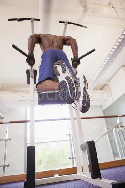 Masculino corpo construtor ginásio Foto stock © wavebreak_media
