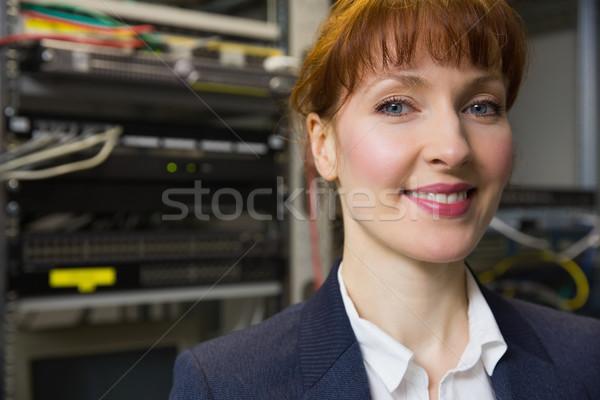 Joli technicien souriant caméra ouvrir Photo stock © wavebreak_media