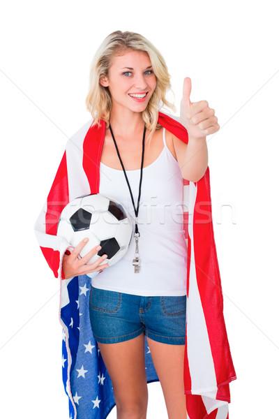 Güzel futbol fan ABD Stok fotoğraf © wavebreak_media
