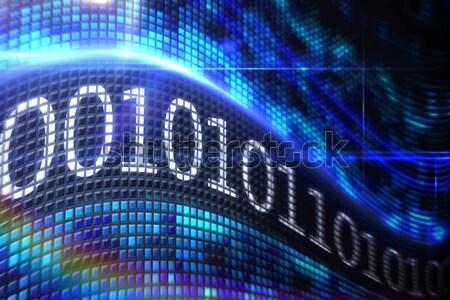 Vortice digitale blu digitalmente generato schermo Foto d'archivio © wavebreak_media