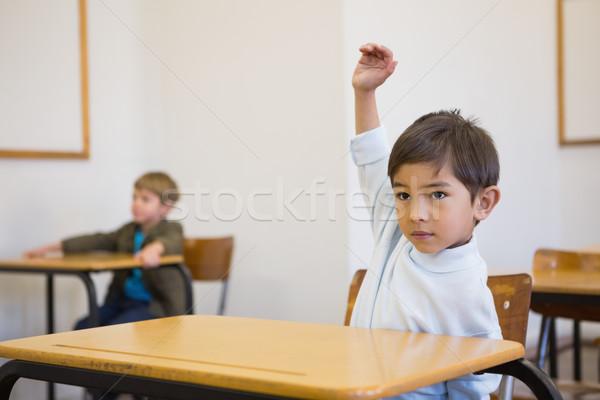 Strony biurko szkoła podstawowa szkoły szczęśliwy dziecko Zdjęcia stock © wavebreak_media