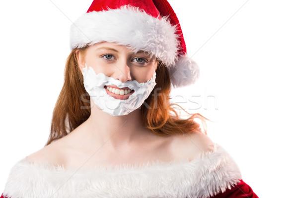 Köpük sakal beyaz komik Stok fotoğraf © wavebreak_media