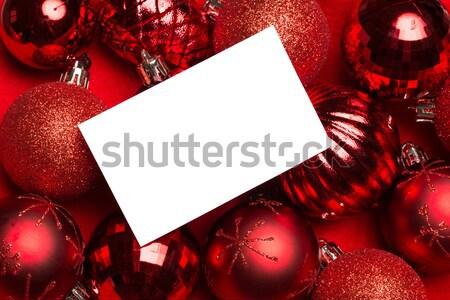 Beyaz sayfa kırmızı Noel kart Stok fotoğraf © wavebreak_media